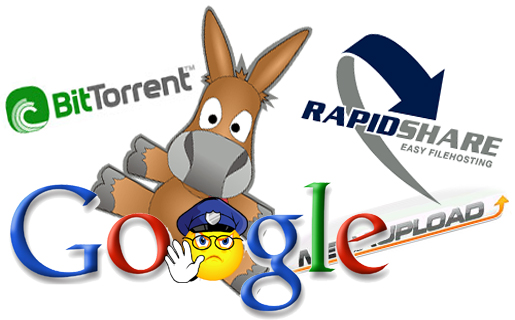 Google suprime los términos P2P en sus búsquedas