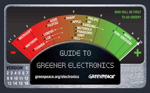 Nokia y Sony Ericsson son las más verdes y Microsoft y Nintendo las menos ecológicas