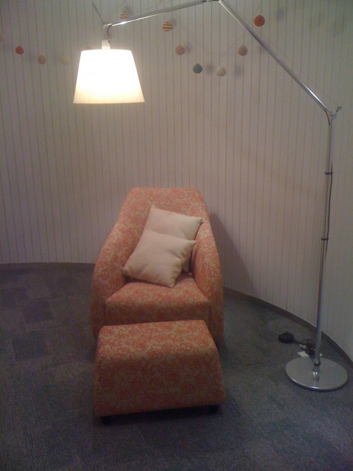 Sala especial para madres embarazadas.