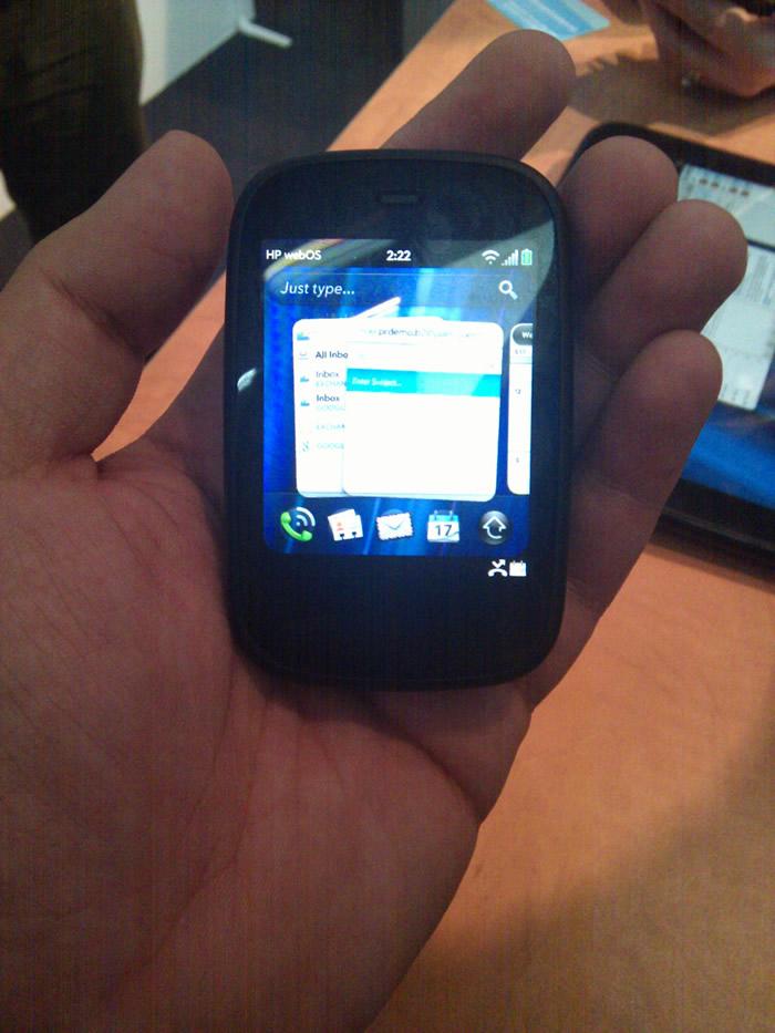 El HP Veer es el más pequeño smartphone que he visto