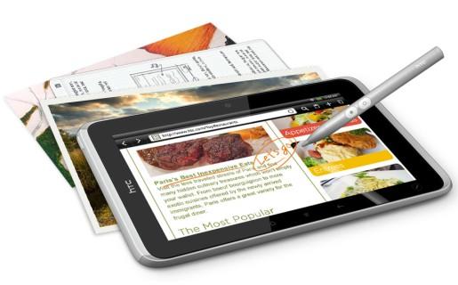La tablet de HTC viene con un stylus para tareas de precisión, como dibujo o escritura a mano alzada.