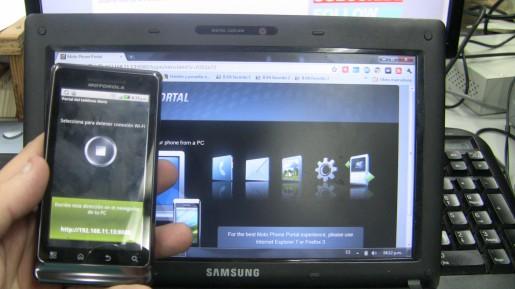 Mediante Wi-Fi podremos convertir al teléfono en un centro de entrenimiento y abrir archivos multimedia desde cualquier PC de la red local.