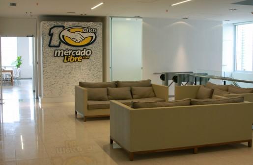 Esta es la entrada a las oficinas de MercadoLibre.com.