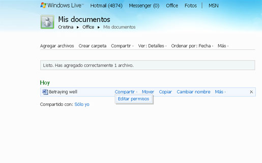 Los usuarios podrán crear, editar y compartir documentos de Office