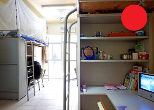 Las habitaciones que se brindan a los empleados no son grandes ni tienen muchas comodidades, pero son mejores que los dormitorios que pueden alquilarse en la ciudad. ©Wired