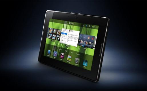 En imagen la primera, y por ahora la única, tablet de RIM