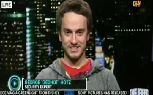 George Hotz en una entrevista en la TV