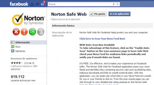 Norton Safe Web protege a los usuarios de Facebook identificando los links seguros antes de clickearlos