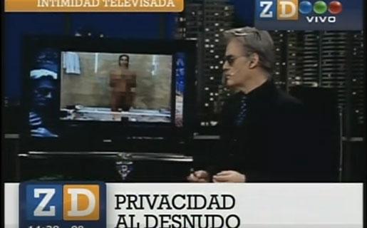 Las fotos de Juana Viale no sólo recorrieron el ciberespacio: también los programas de la TV (Crédito: Captura de TV - Zapping - Telefé)