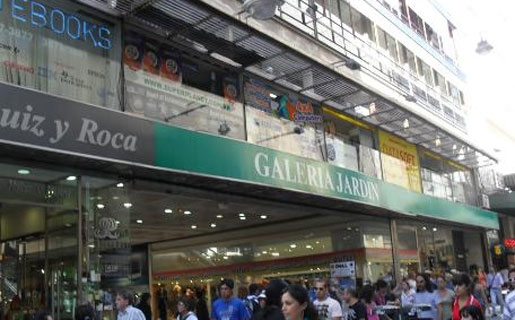 La Galería Jardín es reconocida por sus locales de electrónica con precios accesibles.
