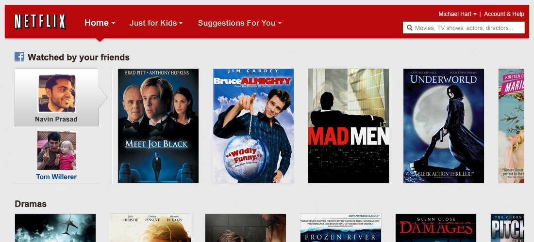 how to change netflix layout