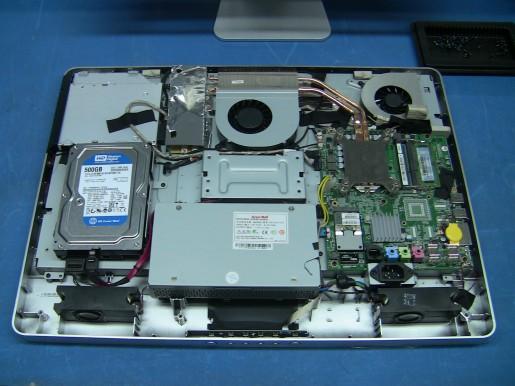 Eurocase también fabrica otros componentes. Acá vemos el interior de una All in One.