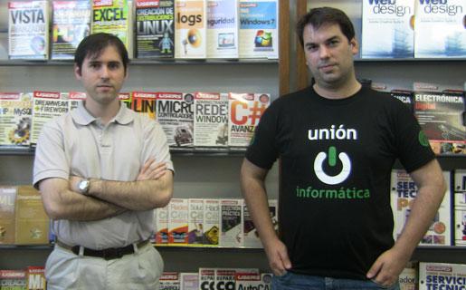 Christian García y Pablo Dorín, de Unión Informática, en la redacción de RedUSERS.