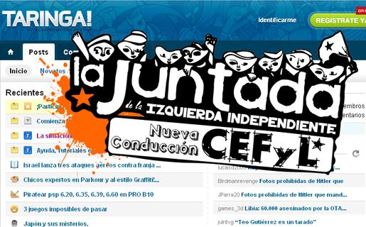 """La agrupación """"La Juntada"""" expresó su apoyo a Taringa! y repudió el procesamiento de los administradores del sitio."""