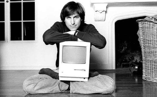 Otra de las imágenes que pululan por Internet mostrando a un Jobs joven. ¿Genio o suertudo?