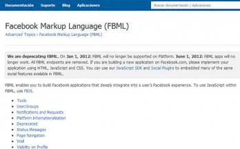 FBML: termina su soporte en el 2012