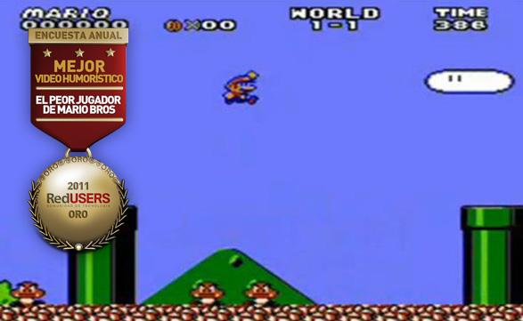 """El peor jugador de Mario Bros de todos los tiempos ganó en la categoria de """"Video Humorístico del año""""."""