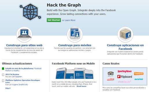 Aplicaciones y juegos para Facebook una gran posibilidad para desarrolladores.
