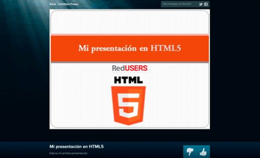 Crear presentaciones aprovechando las ventajas de HTML5 ya es tendencia
