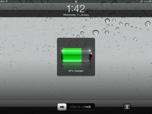 Apple declaró que la diferencia entre el display de la batería del iPad y la carga real de la misma responde al mismo diseño del dispositivo y el SO.