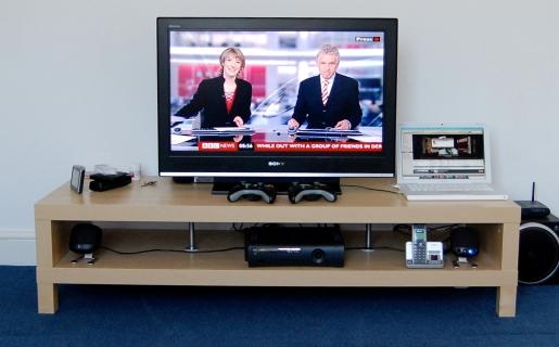 El media center es el complemento ideal para un sistema de home theatre. (Foto: Wikipedia).