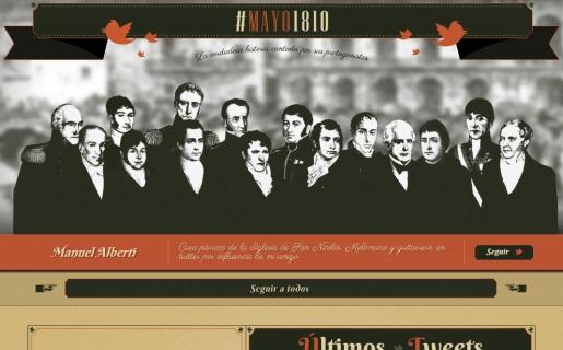 """A través de Twitter los próceres nos cuentan el """"minuto a minuto"""" de la Gesta de Mayo."""
