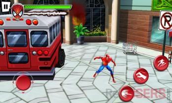 El juego Spiderman aprueba los gráficos 3D y la función multitouch.
