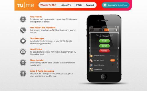TU Me está en idioma inglés, ya que el equipo de Telefónica Digital tiene base en Londres.