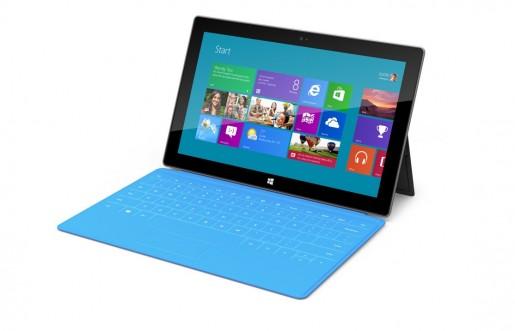 """Microsoft Surface incorpora un """"Touch Cover"""" que, además de proteger la pantalla, funciona como teclado."""
