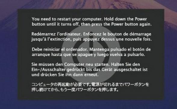Kernel panic: la imagen más temida por los usuarios de Apple.