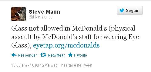 Tweet de Steve Mann.