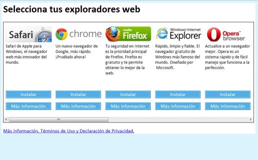 BrowserChoice.eu fue creado por la Comisión Europea para permitir a los usuarios otras opciones para usar la Web además de IE.