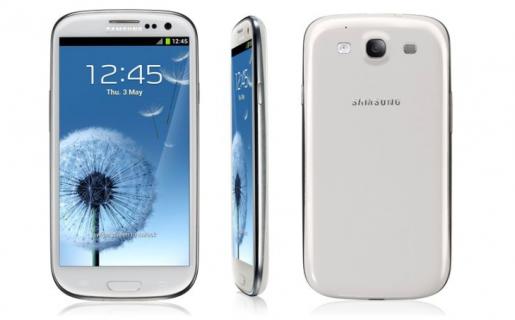 El Samsung Galaxy S III en la versión blanca, también viene en azul