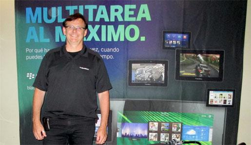 Larry McDonough, líder de evangelistas de desarrollo de BlackBerry 10, estuvo en Buenos Aires y habló con RedUSERS