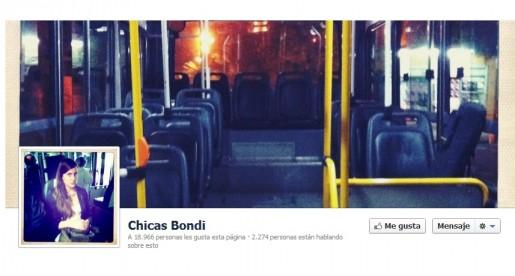 La pagina de Facebook de Chicas Bondi