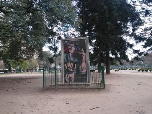 El monumento que hay en Plaza Irlanda a través del Lumia 900.