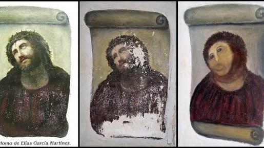 La obra original, el dañado y el reintepretado por Cecilia