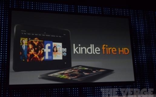 Presentación del Kindle Fire HD.