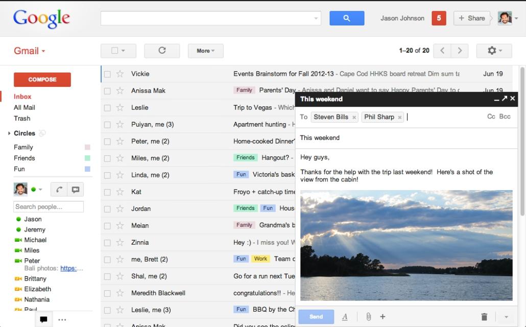 Gmail permitirá tener varias ventanas de redacción, que se comportarán igual que las ventanas de Gtalk.