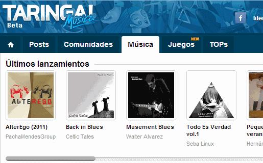 """El sitio apuesta a Taringa Música!, su sitio de streaming """"legal"""", y a Socialphy, una versión internacional de Taringa!"""