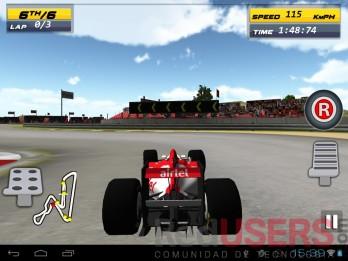 Ultimate Racing, uno de los juegos probados para ver la calidad de la pantalla.
