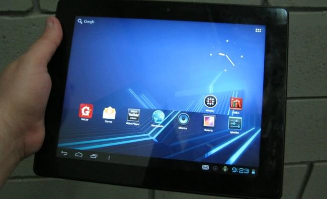 La pantalla de la Kyros MID9742 es de 9,7 pulgadas, a una resolución de 1024x768 píxeles.