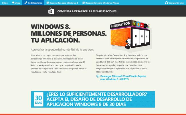 GenerationAppLatam es una guía para aprender a programar aplicaciones para Windows Store.