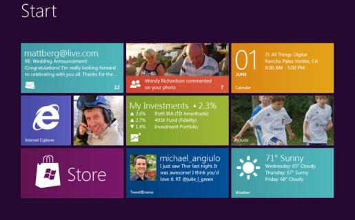 """La nueva pantalla de inicio y los """"Live Tiles"""" son una de las novedades más importantes de Windows 8."""