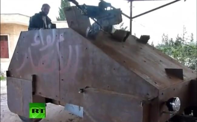 Los rebeldes sirios construyeron un tanque con tecnología casera