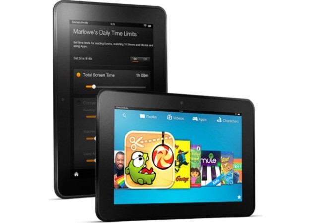 La radiante pantalla retroiluminada del Kindle Fire HD
