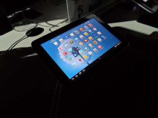 Una de las Tablets exhibidas durante la presentación
