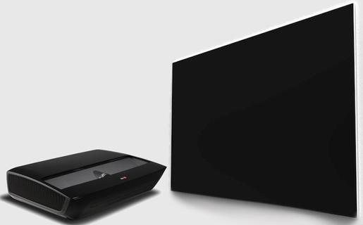 El proyector sólo necesita situarse a 56 cm de la pantalla para generar la imagen de 100 pulgadas en 1080p.