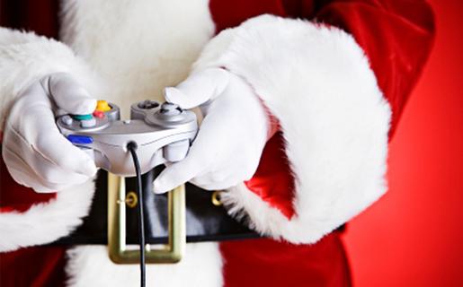 Papa Noel también juega videojuegos