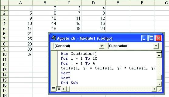 Excel Recorrer Columnas Redusers
